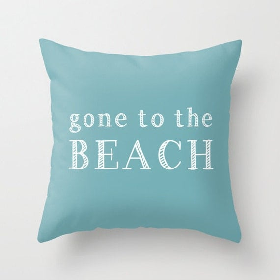 Gone to the Beach Pillow