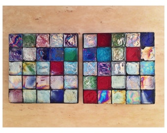 Glass Tile Mosaic Coasters