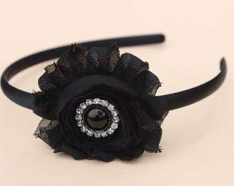 Black headband, hard headbands, plastic toddler headband flower girl headband black hair accessory headband girls headband hard headband