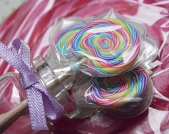 MADE TO ORDER 1:6 Scale Rainbow Lolly Jars, Barbie Food, Monster High Food