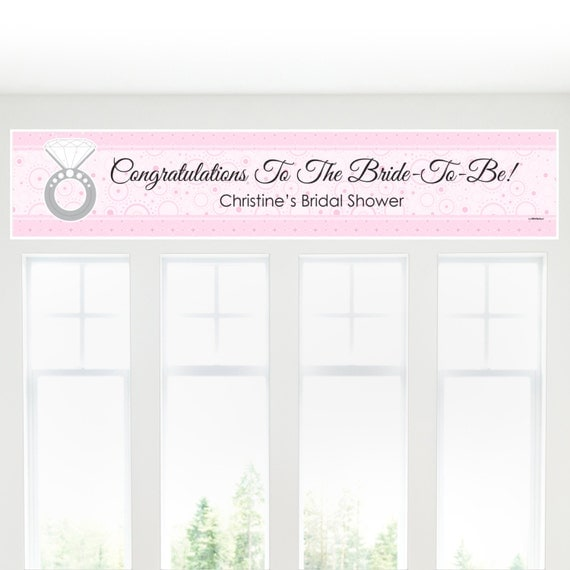 With This Ring Banner Custom Bridal Shower by BigDotOfHappiness
