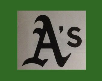 Oakland A's / Oakland Athletics A's Logo Vinyl Car Decal Bumper Sticker  - Small & Medium