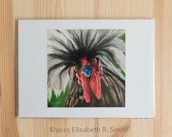 """Wild Rooster 5 x 7"""" Print"""