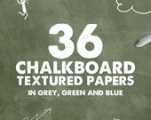 """Chalkboard digital paper: """"CHALKBOARD PAPER"""" with chalkboard backgrounds in grey and black made with real high res chalkboards"""