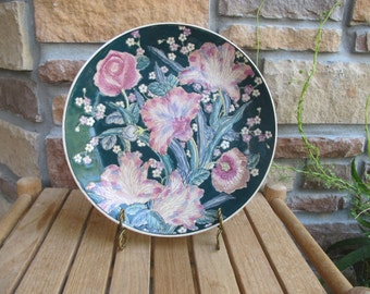 Vintage Toyo Floral handpainted art plate-free shipping