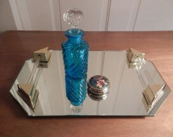 Art Deco Looking Mirrored Tray!