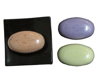 3pc Caswell-massey Signature Soap Collection with Soap Dish