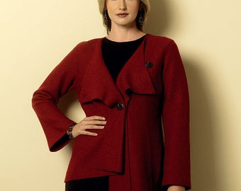 Butterick Sewing Pattern B6140 Misses' Asymmetrical Collar Jackets and Coats