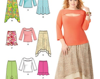Misses' & Plus Size Skirts and Knit Top Simplicity Pattern 1812