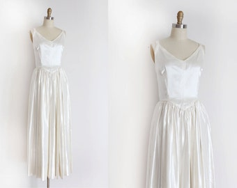 Vintage 1950s wedding dress // 50s wedding gown