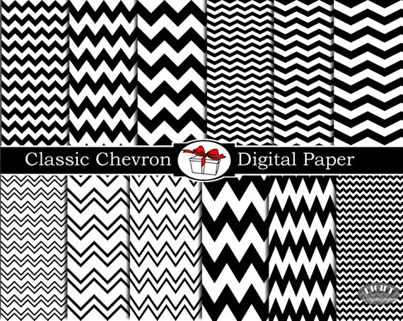Classic Black and White Chevron digital paper Black and white prints Black and white art Background classic wedding invitation Black Chevron