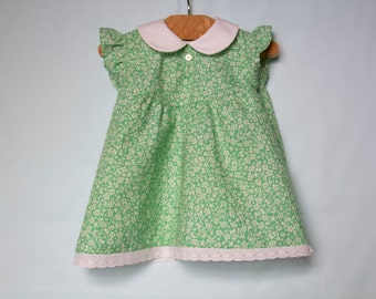 Flutter Sleeve Baby Dress // Vintage Style