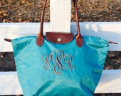 Longchamp inspired bag!  Preppy ~monogrammed~ chic~Must have~favorite~. All colors in stock!!