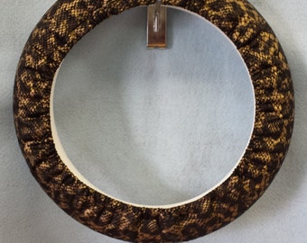 Faux Snakeskin Steering Wheel Cover