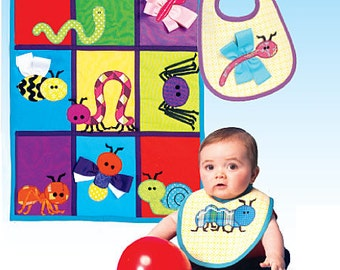 McCall's Pattern M7172 Bib, Quilt and Bug Appliques