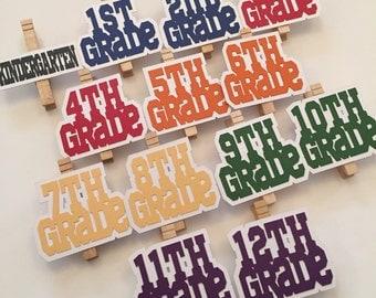 Graduation Photo Clips - Kindergarten through 12th Grade - Graduation Decoration - Class of 2018 - 2018 Graduate - Graduation Party - 2018