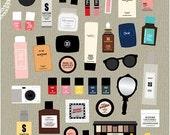 Planner Stickers | Makeup Stickers | Erin Condren Planner Sticker | Kawaii Stickers | Kikki K | InkWELL Filofax | K39.15