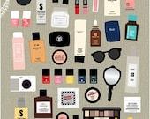 Planner Stickers | Makeup Stickers | Erin Condren Planner Sticker | Kawaii Stickers | Kikki K | InkWELL | Chanel Sticker | Filofax | K39.15