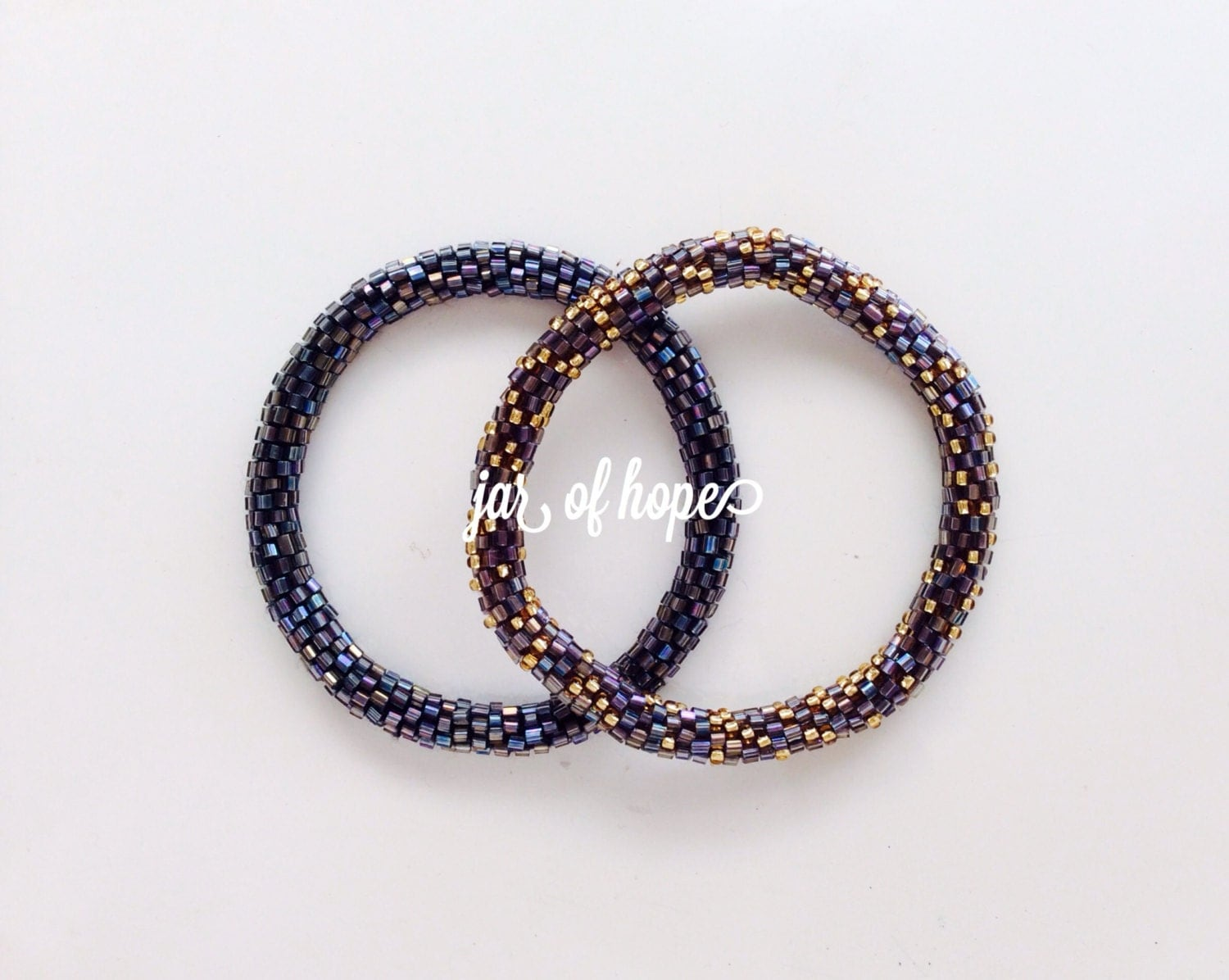 nepal beaded roll on bracelets set of 2 birthday gift by