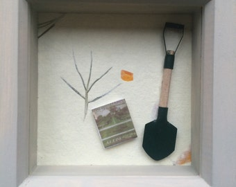 Small Shadow Box Art For Girls Room