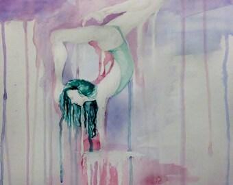 "Balance - 15""x20"" Watercolor Painting - 2014."
