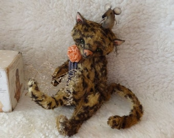 Pattern  Kitten  teddy  19-20 cm. Artist Pattern-stuffed animals-soft toy-artist pattern-cat-kitten-soft toy-teddy bear stuff animal