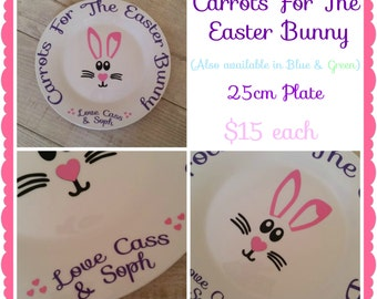 Carrots For The Easter Bunny Personalised Plates