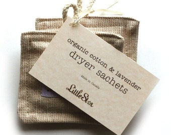 Organic Cotton / Lavender Dryer Sachets