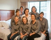 Set of six Monogrammed Bridal Party button down shirts