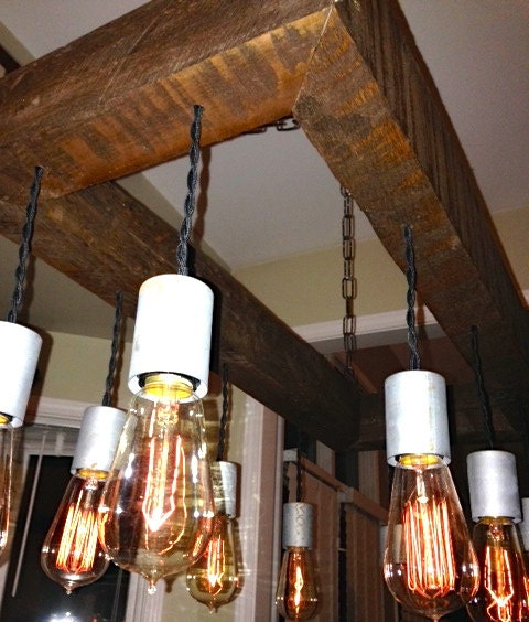 Edison Bulb Chandelier Mason Jar Lighting Mason By: 30 X 15 Edison Bulb Chandelier Mason Jar By ChicagoLights