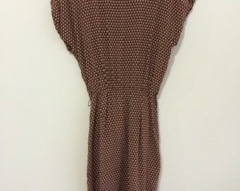 The 80's does the 40's- vintage rayon summer dress Warren Z