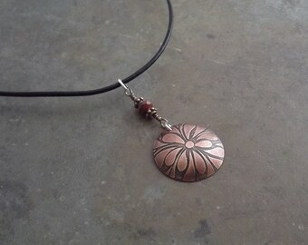 Copper Etched Necklace