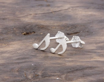 925 stering silver lovely 8th note stud earrings, musical note earrings, gift for her (E_00033)