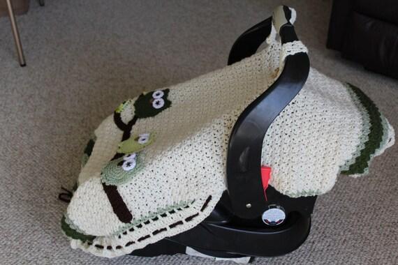 instant download pdf file crochet pattern infant tented car seat cover stroller car. Black Bedroom Furniture Sets. Home Design Ideas