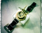Steampunk Watch - Sundial Compass - Brass Compass - Working Compass - Brass Sundial - Compass Jewelry - Compass Watch - Steampunk Gif