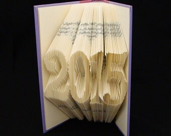2015 -- Happy New Year --  Folded Book Art Sculpture