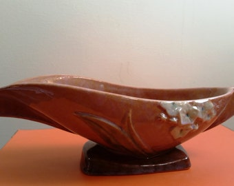 Vintage Art Deco Roseville Wincraft Pattern Console Bowl