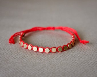 Friendship Bracelet, Gold Friendship Bracelet, Gold Charm Bracelet, Bracelet for Women, Beaded Bracelet, Handmade Bracelet