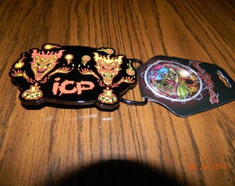 "New- OFFICIALLY LICENSED ICP ""The Amazing Jeckel Brothers"" Metal Belt Buckle"