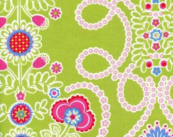Ooh La La Couer de Fleurs Michael Miller Cotton Fabric DC5196 Lime, By the Yard