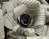 Harry Potter book page paper rose flower, book paper rose bouquet