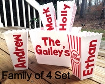 Personalized Popcorn Bowl Family Individual and Family Sets!