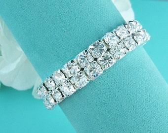 Bridal bracelet, rhinestone wedding bracelet, crystal bracelet, bridal jewelry, wedding accessories, bridesmaid bracelet, crystal wedding