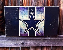 Dallas Cowboys Team Logo Wooden Wall Hanging
