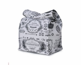 MTO Insulated lunch bag - Retro labels