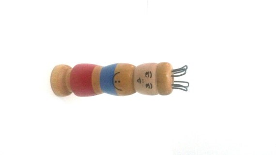 Knitting Nancy Vintage : Items similar to vintage wooden french knitting doll