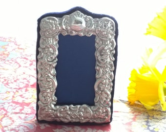 Mini Silver Photo Frame, Mini Picture Frame Hallmarked Silver, Christmas Stocking Filler, Photo Booth Picture Frame