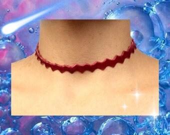 Burgundy Velvet Choker Necklace, Velvet Choker Necklace, Deep Red Velvet Choker necklace, 90s choker necklace, Handmade