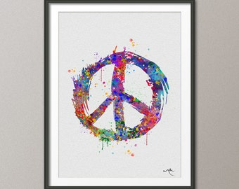 Peace Sign Wall Art peace sign poster | etsy