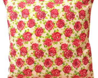 Ragged Rose Pink Cushion Cover